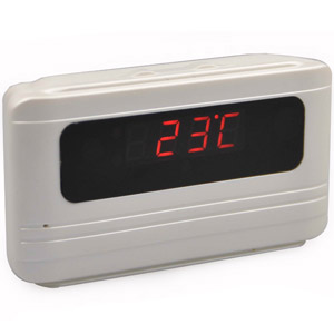 Spy Alarm Table Clock Camera