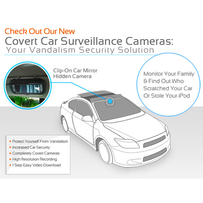 Normal Looking Mirror For In Car Video Surveillance Protect Your Things in Mumbai