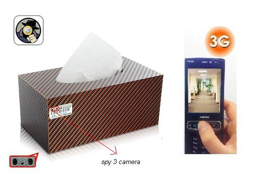 SPY 3G HIDDEN CAR TISSUE PAPER BOX CAMERA
