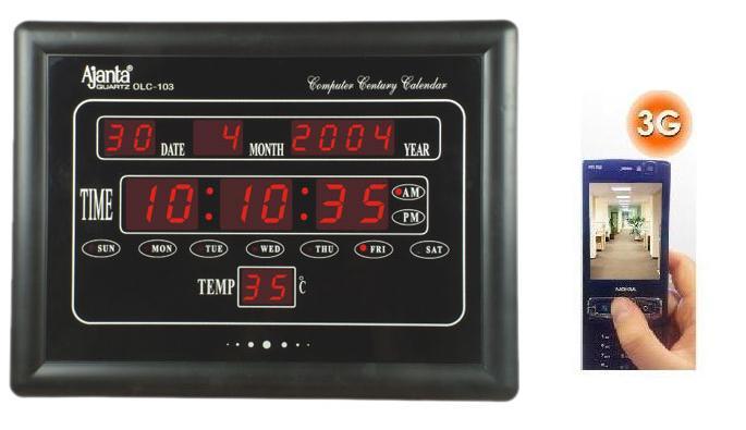 Buy Online Spy 3G Hidden Secret Digital Wall Clock Camera