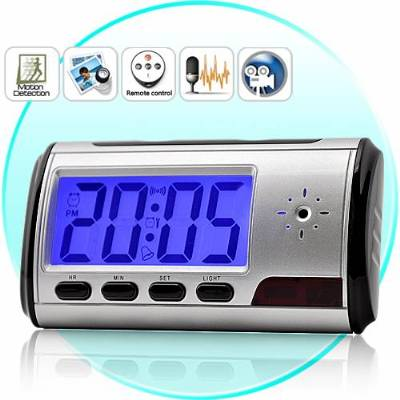 Spy Long Time Recording Digital Table Clock With Sony Camera in Mumbai