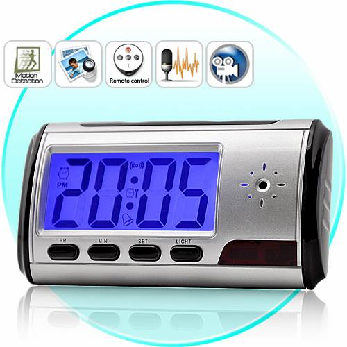 Spy Digital Table Clock With Sony Camera