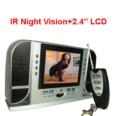Spy Night Vision Table Clock Camera
