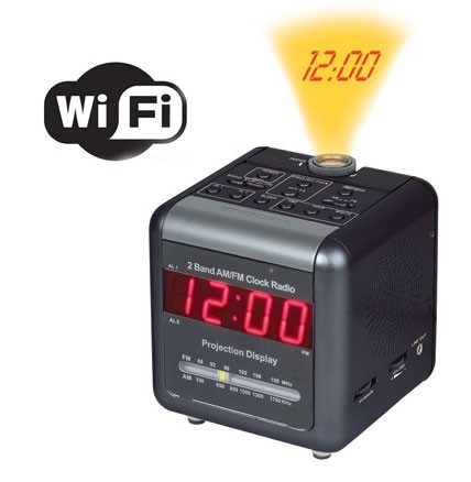 Spy Projection Clock Camera